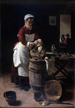 L'Ecureuse   Francois Bonvin   Oil Painting