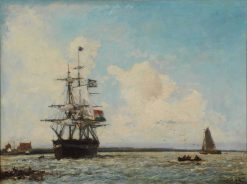 The Grand Canal of Dordrecht(also known as The Marine) | Johan Barthold Jongkind | Oil Painting
