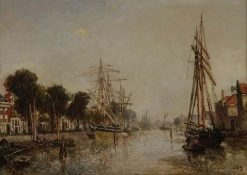 A Canal in Holland | Johan Barthold Jongkind | Oil Painting