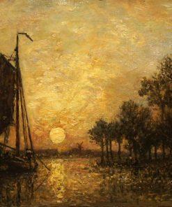 Sunset in Holland | Johan Barthold Jongkind | Oil Painting