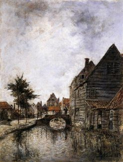 A Canal in Dordrecht | Johan Barthold Jongkind | Oil Painting