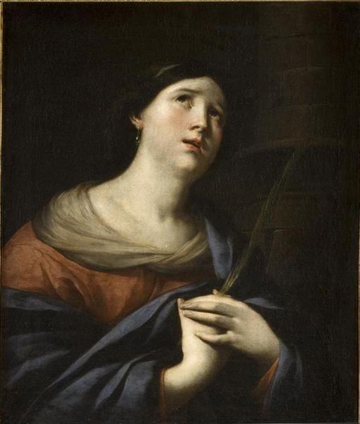 Saint Barbara | Andrea Vaccaro | Oil Painting
