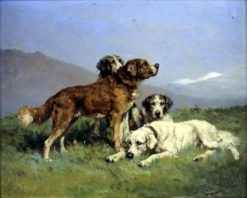 Hounds at Rest | Charles Olivier de Penne | Oil Painting