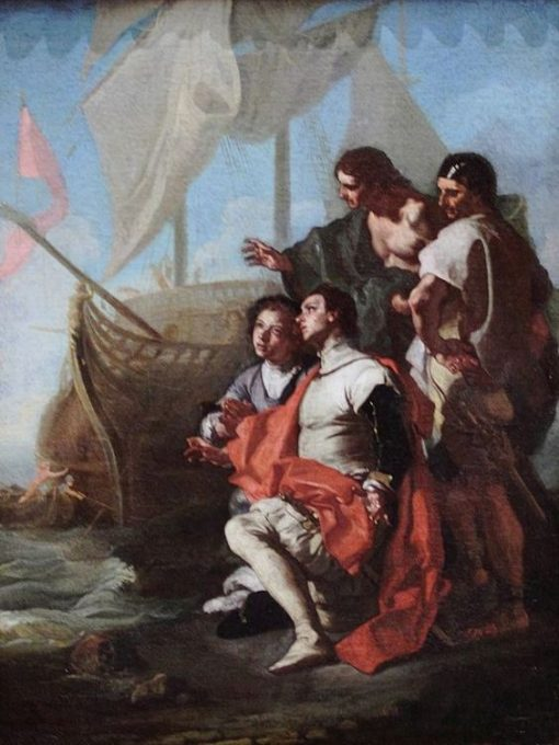 Christopher Columbus Arrives in America | Francesco Solimena | Oil Painting