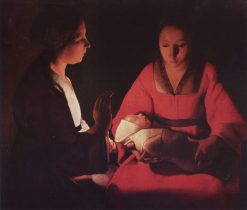 The Newborn Infant(also known as 'The Nativity') | Georges de La Tour | Oil Painting