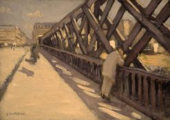 Study for Le Pont de l'Europe | Gustave Caillebotte | Oil Painting