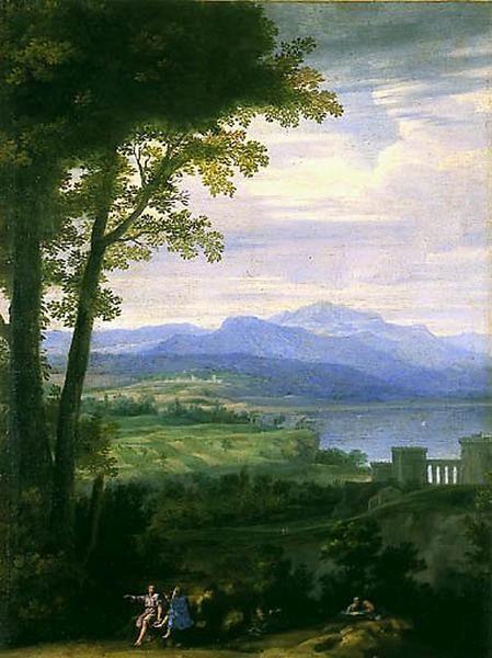 Landscape with Figures   Herman van Swanevelt   Oil Painting