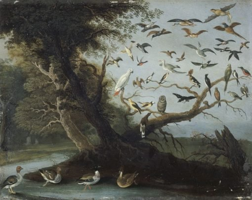 L'arbre aux oiseaux | Jan van Kessel the Elder | Oil Painting