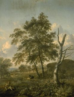 Landscape with Figures | Jan Wijnants | Oil Painting
