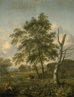Landscape with Figures | Jan Wijnants | Oil Painting
