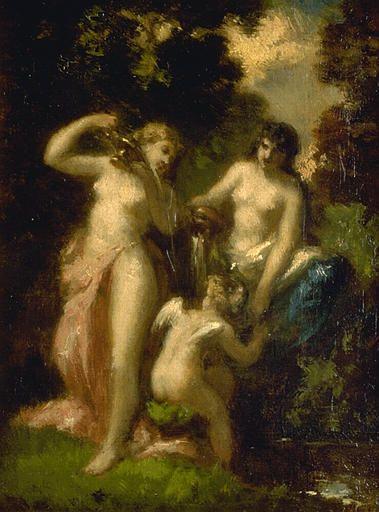 La toilette de l'amour | Narcisse Dìaz de la Peña | Oil Painting