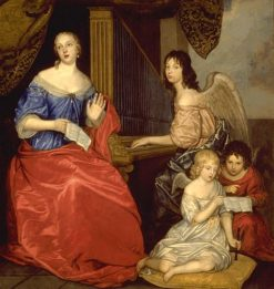Madamoiselle de la Valliere and Her Children | Peter Lely | Oil Painting