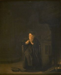 Alchemist Cutting his Nails | Salomon Koninck | Oil Painting