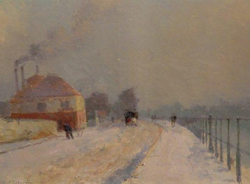Route au bord de la Seine a Suresnes | Albert Lebourg | Oil Painting