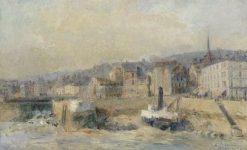 L'Avant le port de Honfleur a Marée-basse (Port of Honfleur