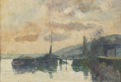 Boats in Dieppe | Albert Lebourg | Oil Painting