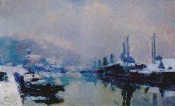 L'ille Lacrois sous la neige | Albert Lebourg | Oil Painting