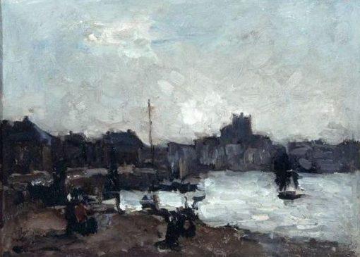 View of Dieppe   Albert Lebourg   Oil Painting