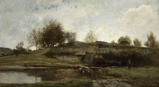 Ecluse dans la Vallee d'Optivoz (Isere) | Charles Francois Daubigny | Oil Painting