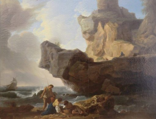 Fishermen in the Pyrenees | Claude Joseph Vernet | Oil Painting