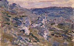 Les coteaux pres de Vetheuil (Rocky Landscape near Vetheuil) | Claude Monet | Oil Painting