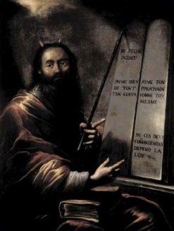 Moise et les tables de la loi (Moses with the Tablets of Law) | Claude Vignon | Oil Painting