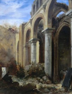 Ruins of the Chapel of the Abbey of Valmont | Eugene Delacroix | Oil Painting