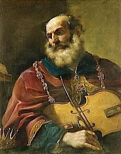 King David Painting | Guercino Oil Paintings