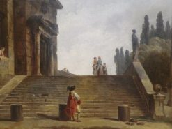 Monuments and Ruins by a Grand Staircase | Hubert Robert | Oil Painting