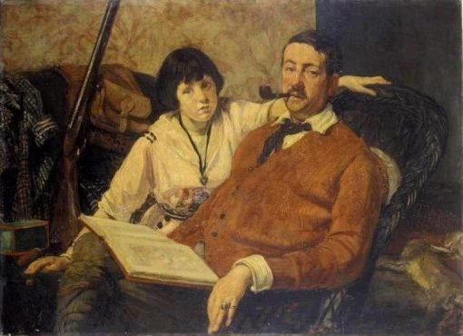 André Lebey and His Daughter | Jacques Emile Blanche | Oil Painting