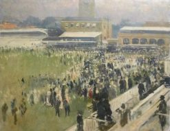 At a Racecourse near London | Jacques Emile Blanche | Oil Painting