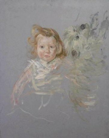 Infant and Dog | Jacques Emile Blanche | Oil Painting