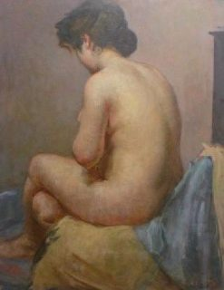 Study of a Nude Female | Jacques Emile Blanche | Oil Painting