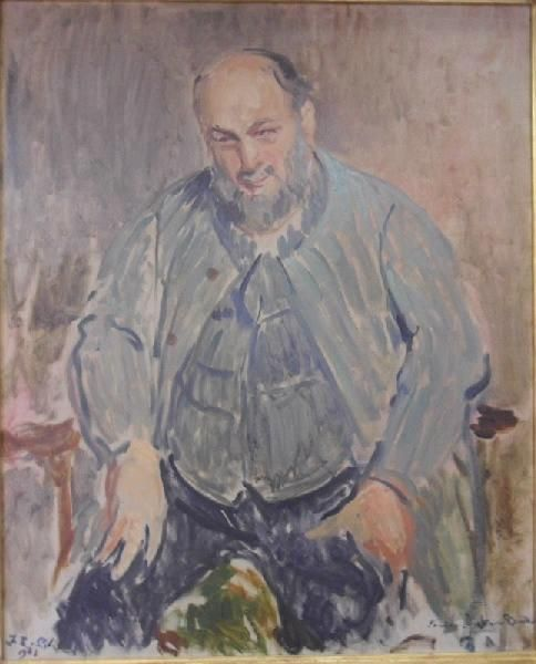 Study for the Portrait of Bourdelle | Jacques Emile Blanche | Oil Painting