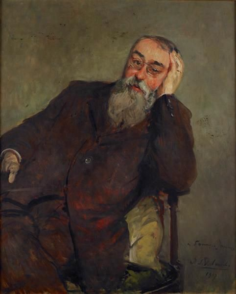 Study for the Portrait of Francis Jammes | Jacques Emile Blanche | Oil Painting