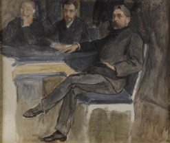 Study for the Portrait of Mallarmé and the Group of the Revue Indépendent | Jacques Emile Blanche | Oil Painting