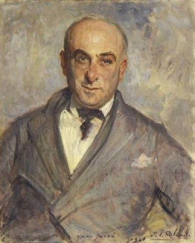 Study for the Portrait of Max Jacob | Jacques Emile Blanche | Oil Painting