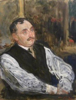 Study for the Portrait of Paul Claudel | Jacques Emile Blanche | Oil Painting