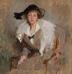 Portrait Study of Countess Bavarowska | Jacques Emile Blanche | Oil Painting