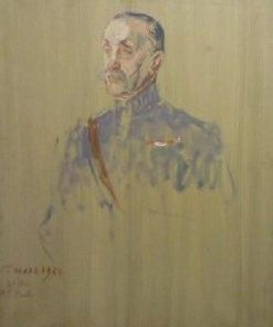 Portrait Study of Marshall Foch (3rd study) | Jacques Emile Blanche | Oil Painting