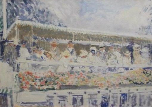 Henley: House Boat on the Thames   Jacques Emile Blanche   Oil Painting