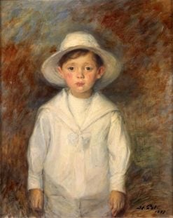 The Young Son of the Painter Helleu | Jacques Emile Blanche | Oil Painting