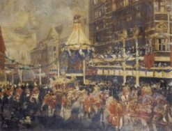 The Coronation in London | Jacques Emile Blanche | Oil Painting