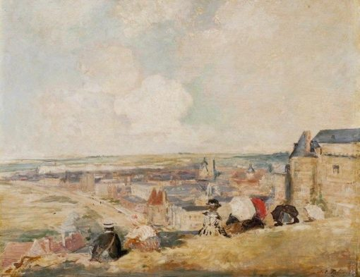 View of Dieppe from the Cliffs | Jacques Emile Blanche | Oil Painting