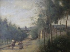 Rue a Coulommiers | Jean Baptiste Camille Corot | Oil Painting