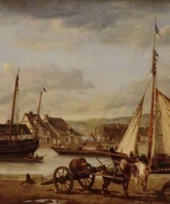 Les quais marchands de Rouen | Jean Baptiste Camille Corot | Oil Painting