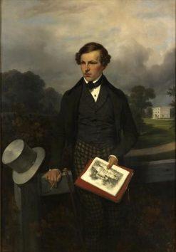 Portrait of Gustave Maupassant the Elder | Joseph Louis Hippolyte BellangE | Oil Painting