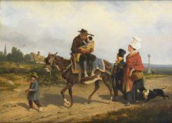 Return to the City | Joseph Louis Hippolyte BellangE | Oil Painting
