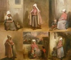 Six Studies of the Bourgeois | Joseph Louis Hippolyte BellangE | Oil Painting