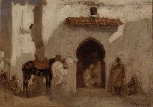 Algerian Scene | Jules Jacques Veyrassat | Oil Painting